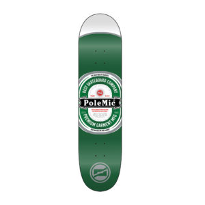 Tabla skate Polemic diseño heineken