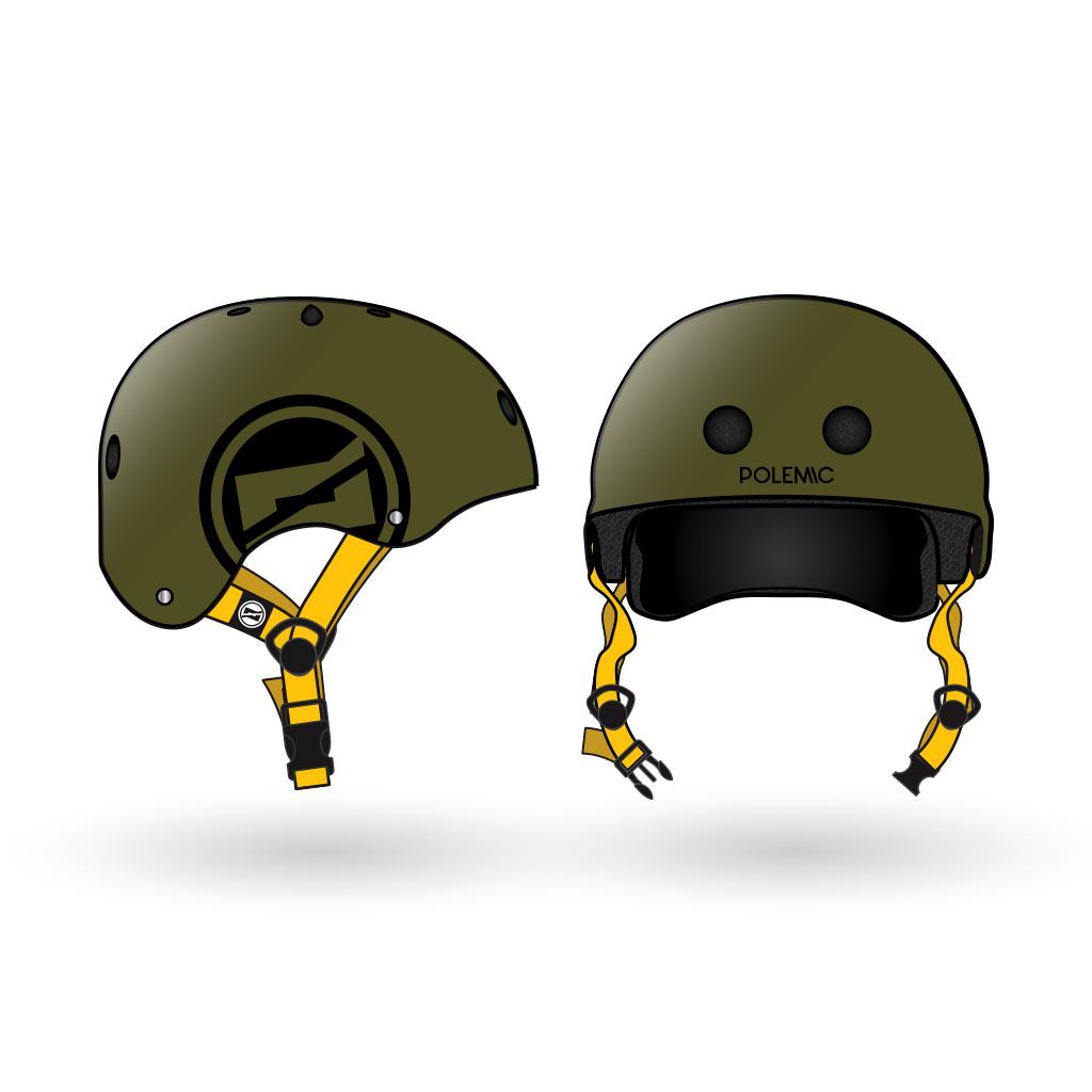 casco skate polemic verde