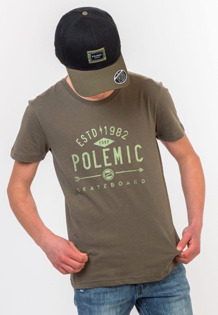 Polera Skater Tailored Fit Color SV1303-4 Verde Oliva Oscuro